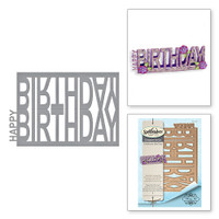 Spellbinders Shapeabilities  Etched Dies Celebrate the Day by Marisa Job: Happy Birthday Easel