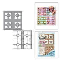 Spellbinders Shapeabilities  Etched Dies Celebrate the Day by Marisa Job: Layered Tile