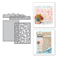 Spellbinders Card Creator Card Front  Etched Dies Celebrate the Day by Marisa Job : Framed Floral