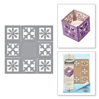 Spellbinders Shapeabilities Diamond Flourish Pocket Etched Die from the Rouge Royale Deux Collection by Stacey Caron