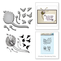 Spellbinders Stamp and Die Set from the Earth Air Water Collection by Stephanie Low : Dandelion
