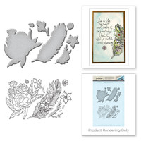 Spellbinders Stamp and Die Set from the Earth Air Water Collection by Stephanie Low : Feather