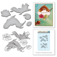 Spellbinders Stamp and Die Set from the Earth Air Water Collection by Stephanie Low : Koi