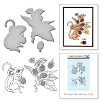 Spellbinders Stamp and Die Set from the Earth Air Water Collection by Stephanie Low : Mouse