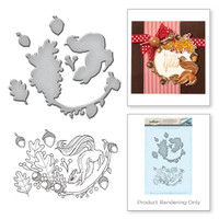 Spellbinders Stamp and Die Set from the Earth Air Water Collection by Stephanie Low : Squirrel