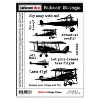 Darkroom Door Cling Stamp: Vintage Plane