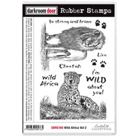 Darkroom Door Cling Stamp: Wild Africa 2