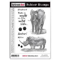 Darkroom Door Cling Stamp: Wild Africa 3