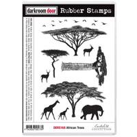 Darkroom Door Cling Stamp: African Tree
