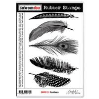 Darkroom Door Cling Stamp: Feathers