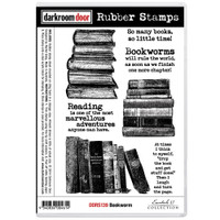 Darkroom Door Cling Stamp: Bookwarm