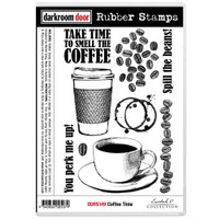 Darkroom Door Cling Stamp: Coffee Time