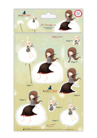Kori Kumi by Santoro  A5 Decoupage Pack 8/Sheets 4 Designs/2 Each