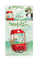 doCrafts Kori Kumi by Santoro  Character Stamp A6 - An Apple A Day, Cart