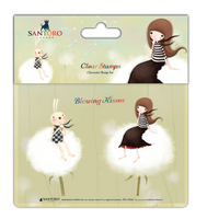 doCrafts Kori Kumi by Santoro  Character Stamp A6 - Blowing Kisses