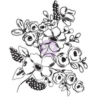 Prima Cling Rubber Stamps by Christine Adolph - Fresh Flowers #1
