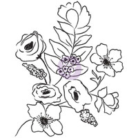 Prima Cling Rubber Stamps by Christine Adolph - Flora Bella #1