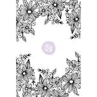Prima Cling Rubber Stamps by Christine Adolph - Daisy Frame