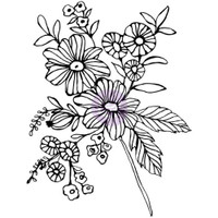 Prima Cling Rubber Stamps by Christine Adolph - Cheerful Bloom