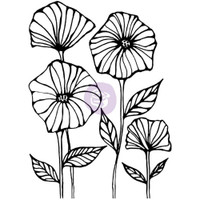 Prima Cling Rubber Stamps by Christine Adolph - Poppy Field