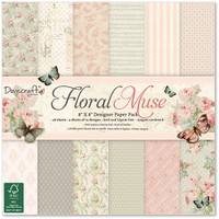 Trimcraft Dovecraft Floral Muse Collection - 8 x 8 Paper Pad