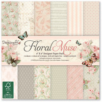 Trimcraft Dovecraft Floral Muse Collection - 6 x 6 Paper Pad