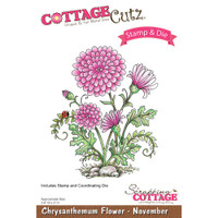 CottageCutz Stamp & Die Set - Chrysanthemum - November