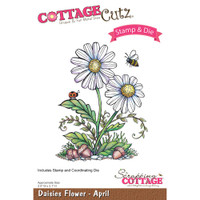 CottageCutz Stamp & Die Set - Daisies - April