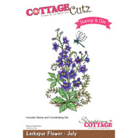 CottageCutz Stamp & Die Set - Larkspur - July