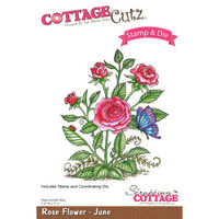 CottageCutz Stamp & Die Set - Rose - June
