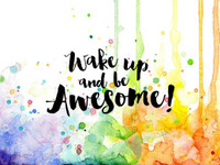 Visible Image Stamps - Wake Up Awesome