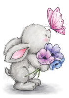Wild Rose Studio - Bunny and Butterfly