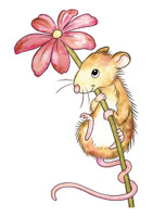 Wild Rose Studio - Mouse and Flower