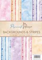 Wild Rose Studio, Papercraft House - Strips and Backgrounds