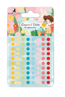 doCrafts Kori Kumi by Santoro  Adhesive Enambel Dots 80/Pkg, Assorted Colors - Dreamboat