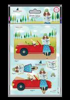 Kori Kumi by Santoro  A5 Decoupage Pack 8/Sheets 4 Designs/2 Each - Dreamboat