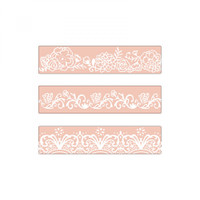 Sizzix Textured Impressions Embossing Folders 3/Pkg - Border Set By David Tutera