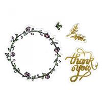 Sizzix Framelits Die by Lindsey Serata Set 6PK w/Stamps - Thank You #2