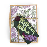 Sizzix Thinlits Die by Jen Long Set 5PK - Birthday Wishes