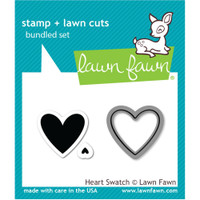Lawn Fawn Stamp & Die Set - Heart Swatch