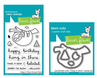 Lawn Fawn Clear Stamps & Dies Bundle - Hang In There