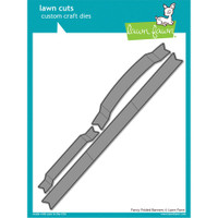 Lawn Cuts Custom Craft Die - Fancy Folded Banners