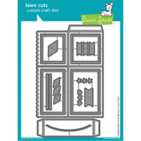 Lawn Cuts Custom Craft Die - Scalloped Box Card Pop-Up