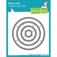 Lawn Cuts Custom Craft Die - Zig Zag Circle Stackables
