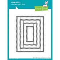 Lawn Cuts Custom Craft Die - Zig Zag Rectangle Stackables