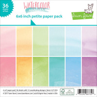 "Lawn Fawn Petite Paper Pack 6""X6"" 36/Pkg - Watercolor Wishes"