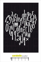 Carabelle Studio Template A6 - Alphabet Heart