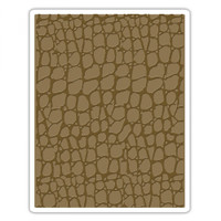 Sizzix Texture Fades Embossing Folder  by Tim Holtz - Croc