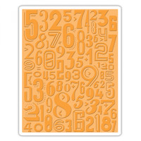 Sizzix Texture Fades Embossing Folder  - Numeric