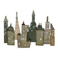 Sizzix Thinlits Cityscape Die Set by Tim Holtz,18PK - Metropolis